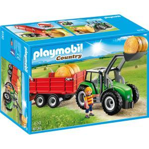 Playmobil - 6130 - Tracteur avec pelle et remorque (304274)
