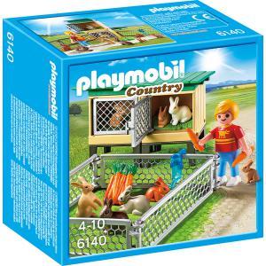 Playmobil - 6140 - Enfant avec enclos à lapins et clapier (304286)