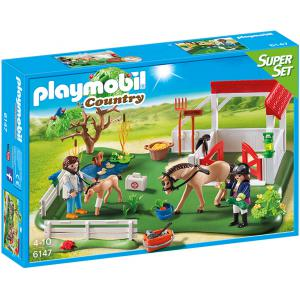 Playmobil - 6147 - SuperSet Paddock avec chevaux (304296)