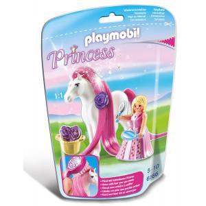 Playmobil - 6166 - Princesse Rose avec cheval à coiffer (304324)