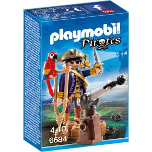Playmobil - 6684 - Capitaine pirate avec canon (304502)