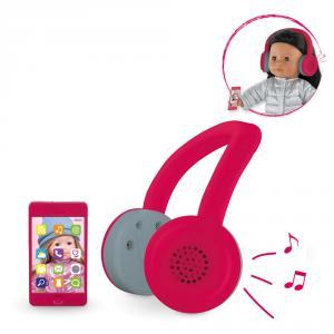 Corolle - DRN56 - Mc casque audio & tel portable - taille 36 cm à partir de 4+ (305608)