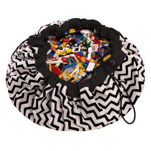 Play and Go - 79963 - Sac de rangement zigzag noir/blanc (305636)