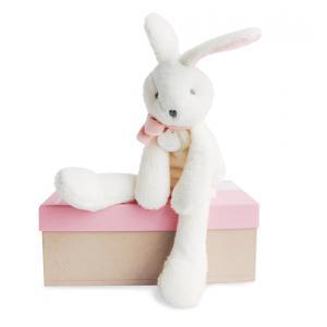 Doudou et compagnie - DC2910 - Lapin chic - rose - 30 cm - boîte cadeau (305758)