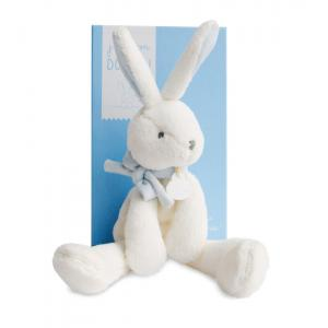 Doudou et compagnie - DC2911 - Lapin chic J'aime mon Doudou  bleu (305760)