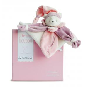 Doudou et compagnie - DC2920 - Collector ours rose - 24 cm - boîte cadeau (305764)