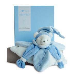 Doudou et compagnie - DC2921 - Collector ours J'aime mon Doudou  bleu (305766)