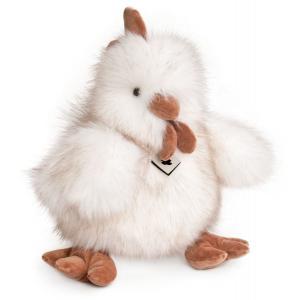Histoire d'ours - HO2554 - Peluche Panache blanc - poule 40 cm (305886)