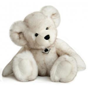 Histoire d'ours - HO2619 - Peluche Panache blanc - ours 40 cm (305888)