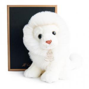 Histoire d'ours - HO2603 - Les authentiques - lion blanc - 20 cm - boîte cadeau (305922)