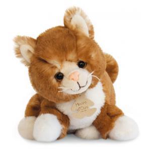 Histoire d'ours - HO2557 - Peluche Chat assis marron 20 cm (305930)