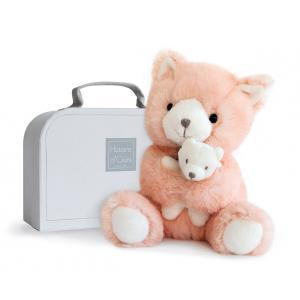 Histoire d'ours - HO2642 - Peluche Chat & bébé rose 17 cm (305978)
