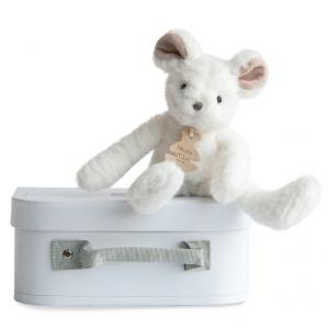 Histoire d'ours - HO2644 - Peluche Sweety couture - souris blanche pm 24 cm (305988)