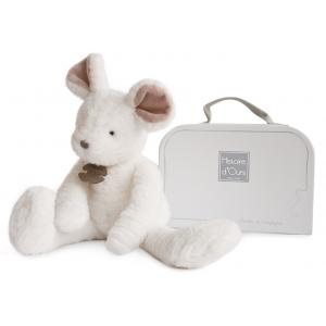 Histoire d'ours - HO2637 - Peluche Sweety couture - souris blanche mm 38 cm (305990)
