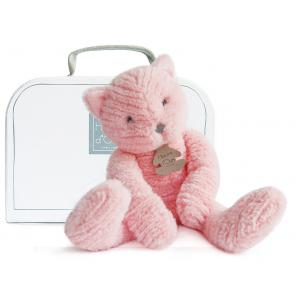Histoire d'ours - HO2639 - Peluche Sweety couture - chat rose mm 38 cm (305994)