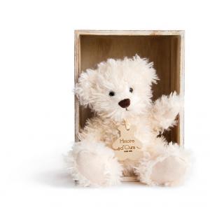 Histoire d'ours - HO2605 - Peluche Ours chiné - écru  10 cm 10 cm (306004)