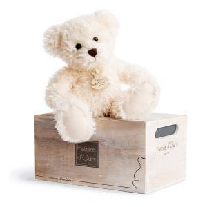 Histoire d'ours - HO2609 - Peluche Ours chiné - écru  17 cm 17 cm (306006)