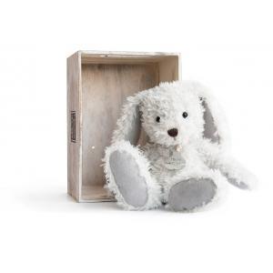 Histoire d'ours - HO2612 - Peluche Lapin chiné - perle  17 cm 17 cm (306018)