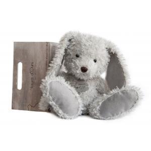 Histoire d'ours - HO2616 - Peluche Lapin chiné - perle  22 cm 22 cm (306020)