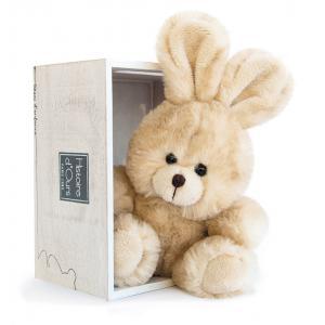 Histoire d'ours - HO2631 - Peluche Les p'tits compagnons - lapin beige 10 cm (306030)