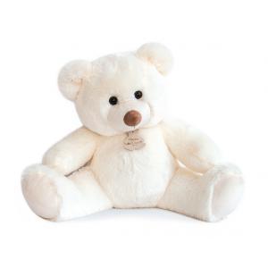 Histoire d'ours - HO2666 - Peluche Bel'ours blanc 50cm - nouvelle matière 50 cm (306060)