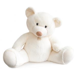 Histoire d'ours - HO2668 - Peluche Bel'ours blanc 90cm - nouvelle matière 90 cm (306064)