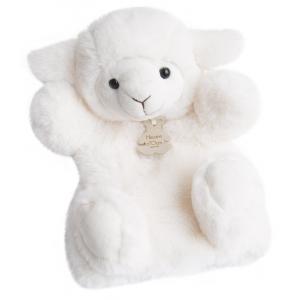 Histoire d'ours - HO2597 - Douce marionnette - agneau 25 cm (306138)