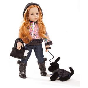 Gotz - 1659079 - Poupée Hannah et son chien cheveux roux 12 pièces 50 cm (306198)
