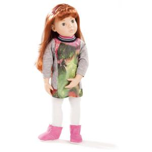 Gotz - 1666037 - Poupée Clara robe droite yeux bleus cheveux roux 50 cm (306202)