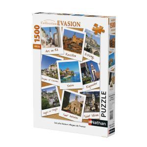 Nathan puzzles - 87774 - Puzzle 1500 pièces - Villages de France (306312)