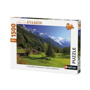 Nathan puzzles - 87776 - Puzzle 1500 pièces - Les aiguilles de Chamonix (306314)