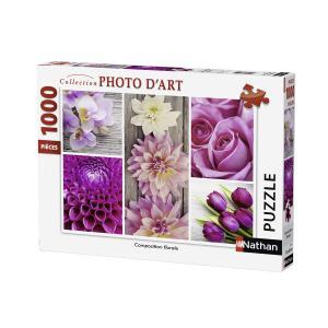 Nathan puzzles - 87456 - Puzzle 1000 pièces - Composition florale (306320)