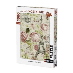 Nathan puzzles - 87453 - Puzzle 1000 pièces - Paris Roses (306322)