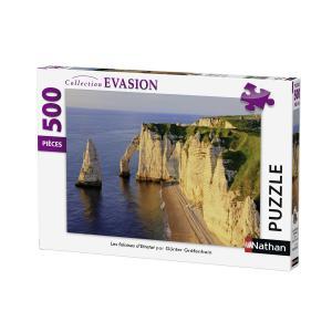 Nathan puzzles - 87228 - Puzzle 500 pièces - Les falaises d'Etretat (306330)