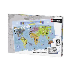 Nathan puzzles - 86806 - Puzzle 150 pièces - Carte du monde (Illustration) (306344)