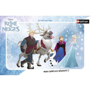 Nathan puzzles - 86038 - Puzzle cadres 15 pièces - Nathan - En route pour l'hiver / Reine des Neiges (306384)