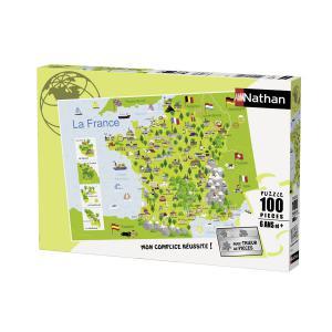 Nathan puzzles - 86732 - Puzzle 100 pièces - Nathan - Carte de France (306396)