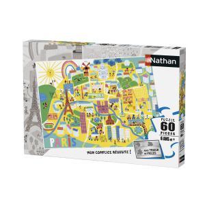 Nathan puzzles - 86566 - Puzzle 60 pièces - Plan de Paris (Illustration) (306398)