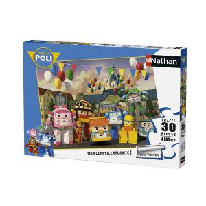 Nathan puzzles - 86338 - Puzzle 30 pièces - Jour de fête à Vroum Ville / Robocar Poli (306404)