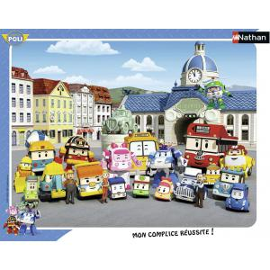 Nathan puzzles - 86123 - Puzzle cadres 35 pièces - Bienvenue à Vroum Ville / Robocar Poli (306408)
