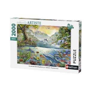 Nathan puzzles - 87876 - Puzzle 2000 pièces - Le paradis des dauphins (306412)