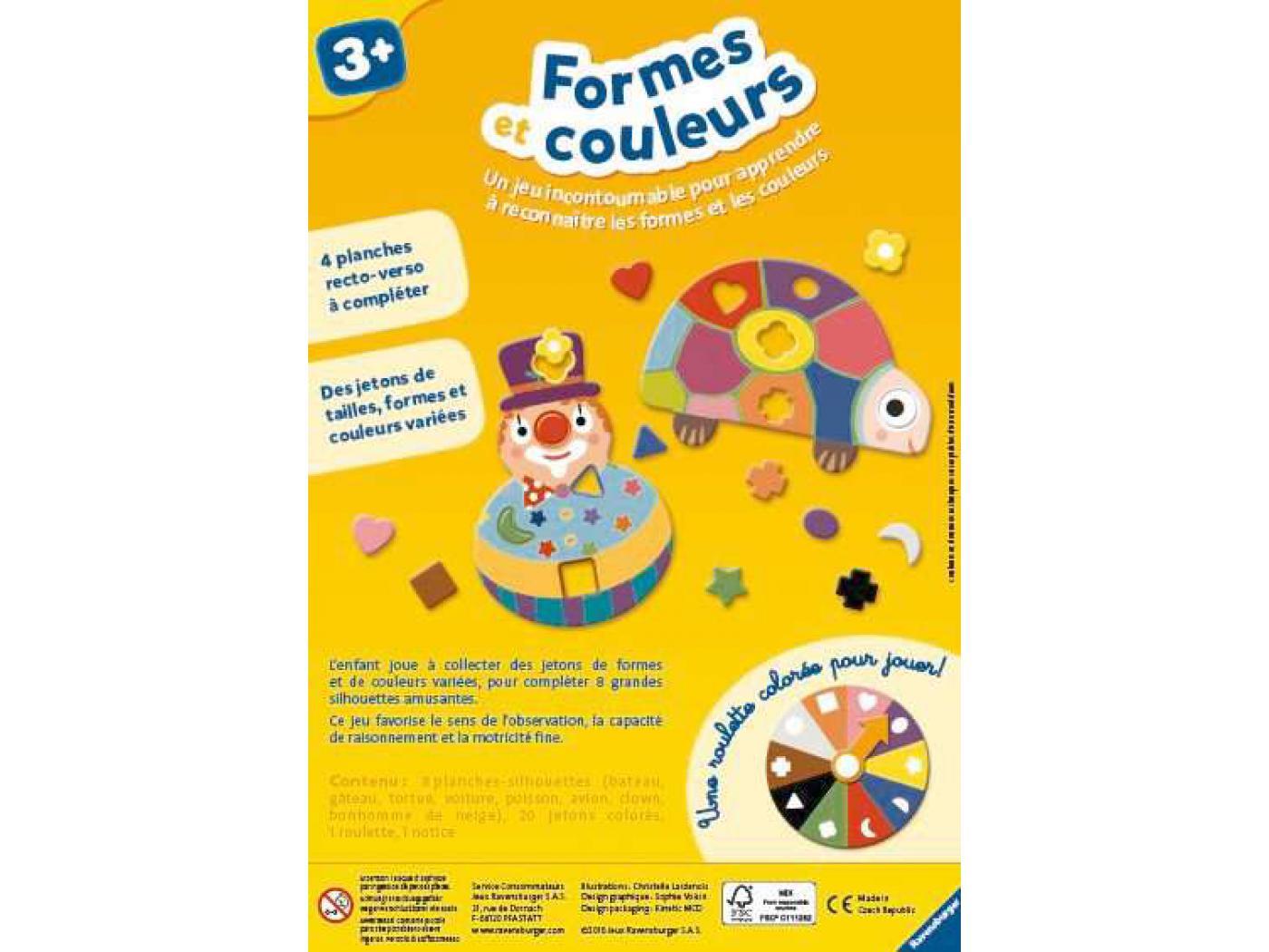 ravensburger formes et couleurs jeux ducatifs 3 ans. Black Bedroom Furniture Sets. Home Design Ideas