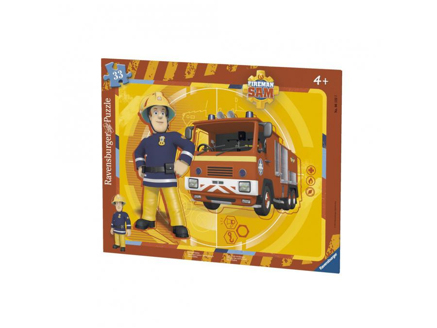 ravensburger puzzle cadres 30 48 pi ces sam et son camion sam le pompier. Black Bedroom Furniture Sets. Home Design Ideas