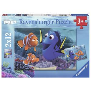 Ravensburger - 07601 - Puzzle 2x12 pièces - Dory se promène en mer / Le monde de Dory (306528)