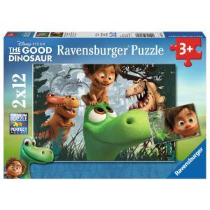 Ravensburger - 07571 - Puzzle 2 x 12 pièces - Spot et les dinosaures / Le voyage d'Arlo (306530)