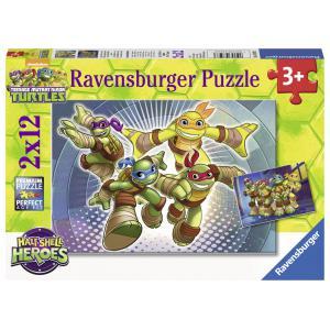 Ravensburger - 07597 - Puzzle 2 x 12 pièces - Tortues ninja en action (306542)