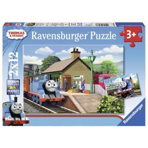 Ravensburger - 07583 - Puzzle 2x12 pièces - Thomas la locomotive / Thomas and friends (306544)
