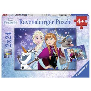 Ravensburger - 09074 - Puzzle 2x24 pièces - Aurores boréales / La Reine des Neiges (306552)