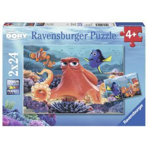 Ravensburger - 09103 - Puzzle 2x24 pièces - Toujours nager / Le monde de Dory (306554)