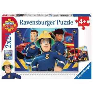 Ravensburger - 09042 - Puzzle 2x24 pièces - Sam t'aide dans le besoin / Sam le pompier (306564)